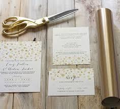diy wedding invites mountain modern how to add gold to diy wedding invitations