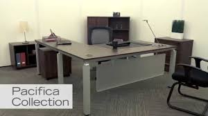L Shaped Contemporary Desk Modern L Shaped Desk Pacifica By Nbf