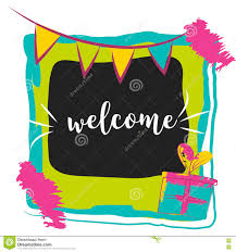 typography welcome sign on bright background concept image poster