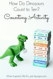 how do dinosaurs count to ten activity counting activities