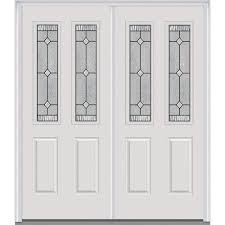 Steel Exterior Doors Home Depot by Mmi Door 60 In X 80 In Grilles Between Glass Right Hand Fan Lite