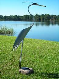 blue heron yard ornament made from pvc pipe etsy crafts