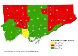 Map Of Election Results by Toronto U0027s Mayoral Election In Five More Maps Spacing Toronto