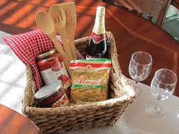 dinner gifts italian dinner for two gift basket add a baguette and a little