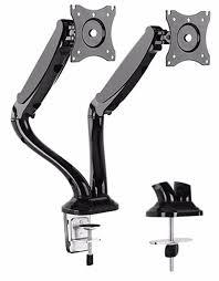 articulating monitor desk mount dual arm tv lcd monitor desk mount bracket articulating swivel gas
