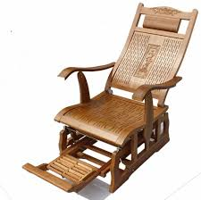 Recliner Rocker Chair Modern Bamboo Rocking Chair Glider Rocker Bamboo