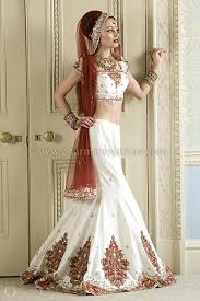 Red And White Wedding Dresses Indian Bridal Wear Indian Wedding Asian Bridal Wear