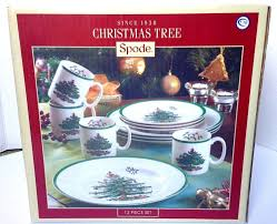 spode christmas tree 12 piece dinnerware set service for 4 new ebay