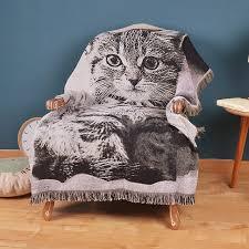 jeter un canapé canapé coton tricoté jeter couverture avec gland