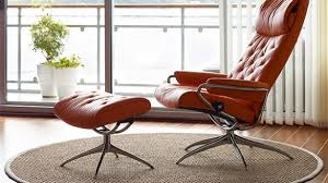 amazing ekornes stressless metro high back leather recliner and