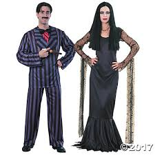 Adam Family Halloween Costumes Addams Family Gomez U0026 Morticia Couples Costumes