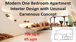 700 sq ft modern one bedroom apartment interior design with