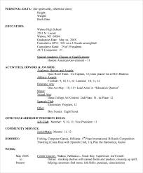 high resume for college format heading sle high resume template 6 free documents in pdf word
