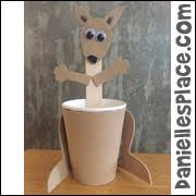paper cup kangaroo craft for australia day diy primrose