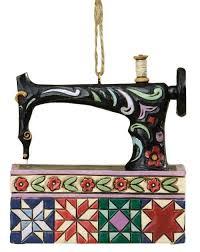 jim shore sewing machine ornament keepsake quilting
