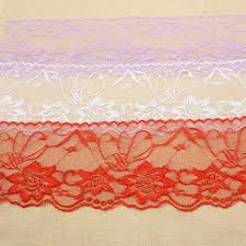 fabric ribbon 12 5cm width lace edge trim ribbon flowers embroidered net diy