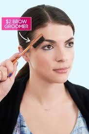 groom eyebrows with toothbrush diy brow grooming tutorial