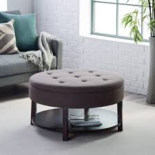 Seagrass Storage Ottoman Coffee Table Popular Ottoman Storage Matching In Round Wicker With