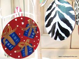 painted wooden ornaments for pet shop with paw prints
