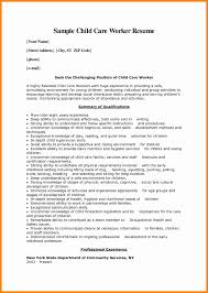 day care resume objectives cover letter for job child care sample