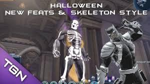 halloween skeleton game dcuo halloween seasonal new feats and skeleton style 2013