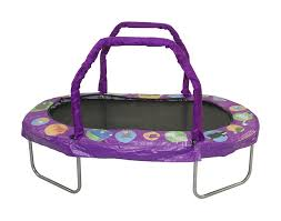 Mini Trampoline With Handrail Jumpking Mini Oval Trampoline With Pad U0026 Reviews Wayfair
