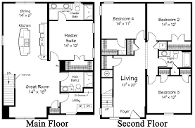 two story floor plans 2 story coastal floor plans free image house plans