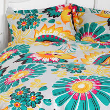 tropical paisley duvet cover everything turquoise