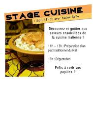 stage de cuisine stage de cuisine du mali avec yacine bello at salle des fêtes la