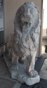 lion statues pair of marble carved lion statues genuine pink and