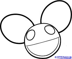 draw deadmau5 deadmau5 deadmau5 logo step step music
