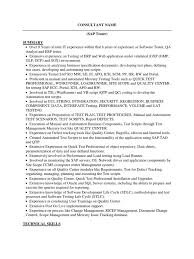 Sap Abap Sample Resume by Sap Developer Cover Letter