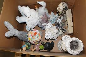 assorted ceramic lawn ornaments 10 pieces property room