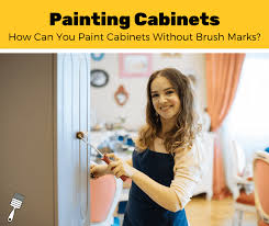 how to paint kitchen cabinets without streaks how to paint a door without brush marks 7 step guide
