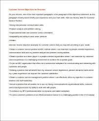 Medical Resume Objective Resume Objective For Customer Service Resume Objective Examples