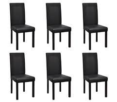 sedie per sala pranzo vidaxl 6 pz sedie per sala da pranzo in pelle artificiale nere