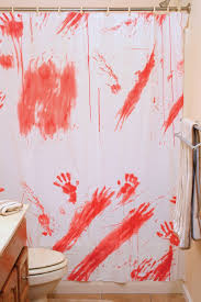 bloody shower curtain decoration blood splattered shower curtain