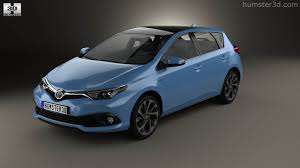 toyota 2015 models 360 view of toyota auris hatchback hybrid 2015 3d model hum3d store