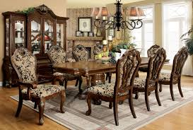 Traditional Dining Room Sets Furniture Of America Almeria Traditional 9 Piece Dining Set