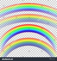 two color combinations rainbows two sizes two color combinations stock vector 373126255