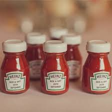 cool wedding favors lovable wedding ideas ketchup bottles wedding favours