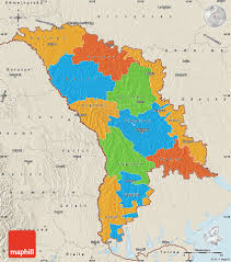 where is moldova on the map political map of moldova shaded relief outside