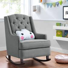 Wingback Rocking Chair Dorel Living Baby Relax Zoe Tufted Rocking Chair Gray