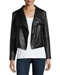 jacket moto eileen fisher fisher project lambskin leather moto jacket in black