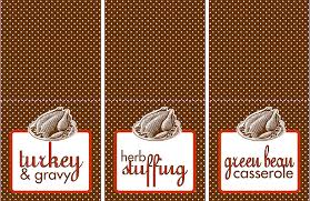 free food thanksgiving labels happy thanksgiving