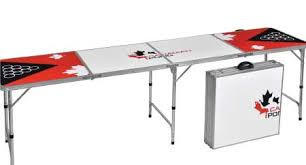 how long is a beer pong table beer pong tables packs canadian pong