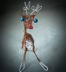 Christmas Deer Table Decorations by 137 Best Whimsical Wire Animal Sculpture Images On Pinterest