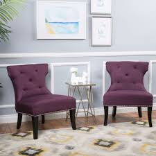 Unique Accent Chairs by Accent Chairs For Living Room Set Of 2 Unique Purple Studded