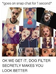 Snapchat Meme - snapchat dogs dog filter know your meme
