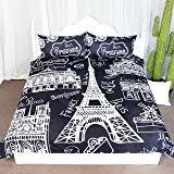 Passport Bed Set Amazon Com Bed Lam Passport London Paris Rome Black White King